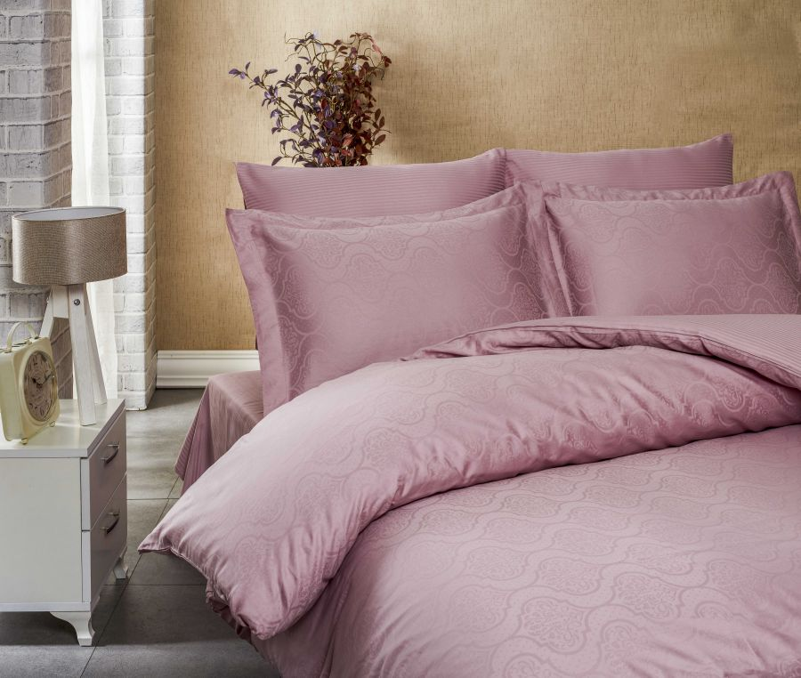 Sateen jacquard duvet cover set